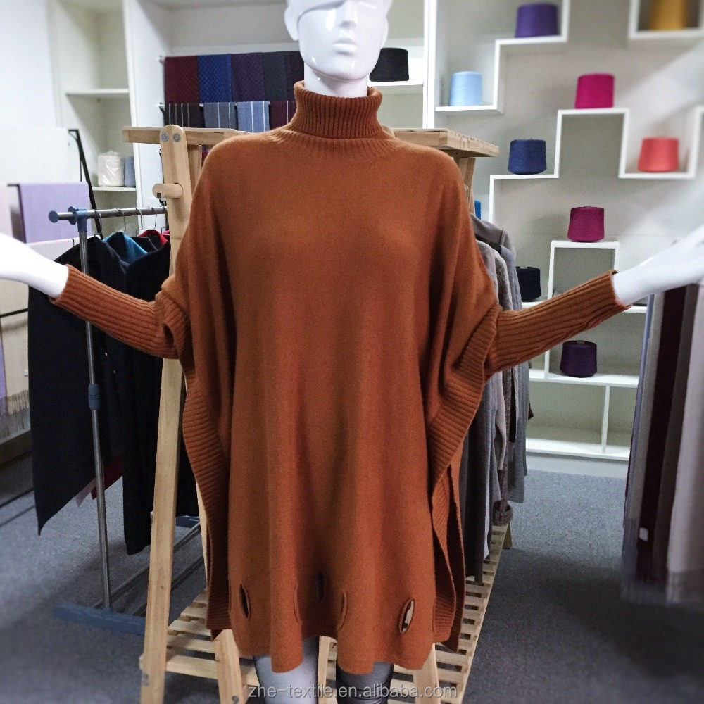 womens wholesale cashmere poncho knitted pullover cloak capes