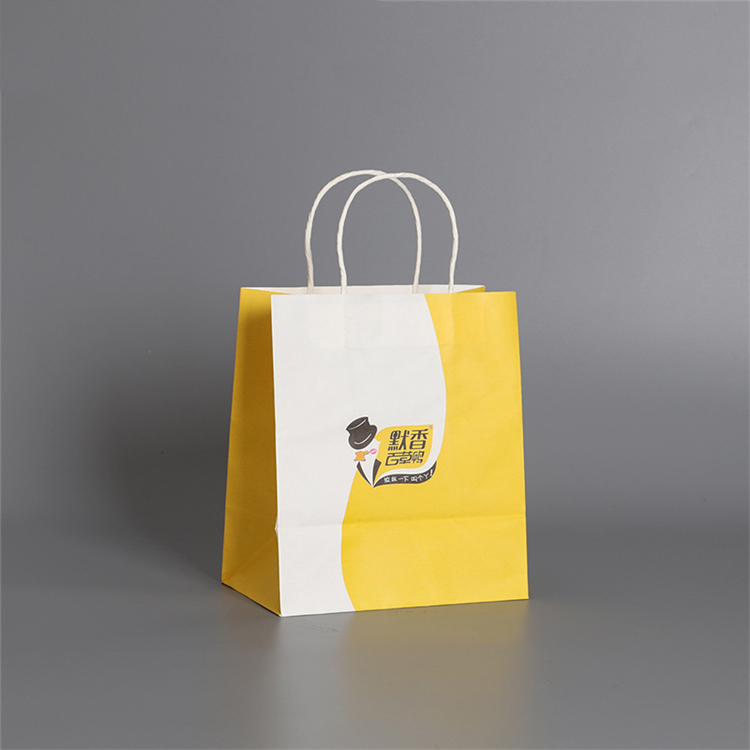 China Supplier Plant High Quality Shopping Bag With Handle Brown Kraft Packing Paper Bags