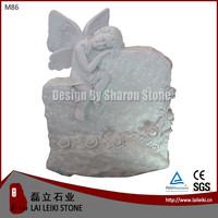 Crystal white or White Marble with More Granite & Marble Angel Stone Monument Tombstone Headstone Gravestone German Style