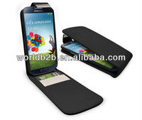 Leather Flip Case with Credit Card Holder for Samsung galaxy S4 i9500