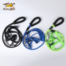 Wholesale Polyester Adjustable Running Pet Collar Leash Dog Leash Spring
