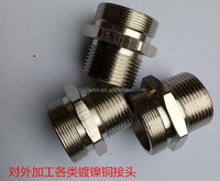 Hot sale electrical cable pipe nipple For Double threaded joint,Double threaded joint for cnc machining