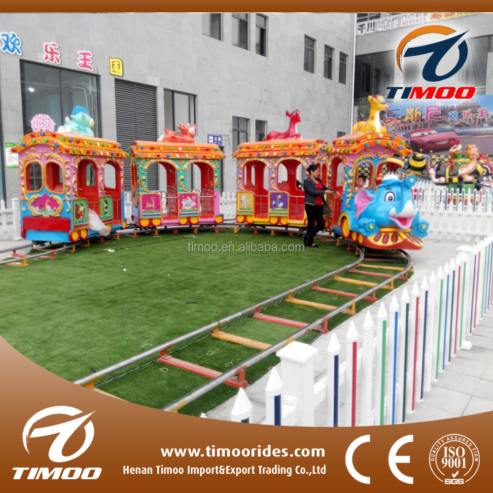 Most Popular Tourist Fun Trains Elephant Track Type Electric Real Train For Sale