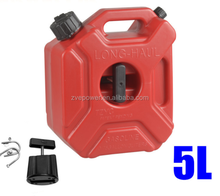 5L Litre Mount Motorcycle Spare Fuel Tank Jerry Cans Plastic Car Petrol Tanks Jerrycan Oil Container Backup Oil Can