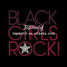 Hot Fix Rhinestone Templates Black Girls Rock