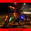 Bicycle White Front Headlight + Red Rear Flashlight Bicycle Light Set