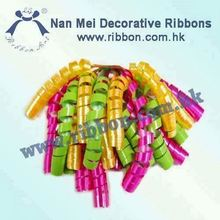 Iridescent Color Party Curly Bow for colorful decoration