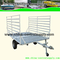 Factory made steel high quality Utility ATV trailer with ramps on road CT0096