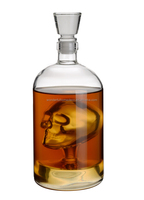 Graceful 750ml Empty Vodka Whisky Wine Borosilicate Glass Skull Bottle Price China
