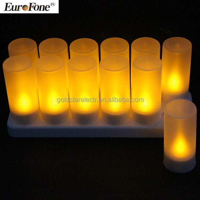 2017 new style Rechargeble led tealight candle without remote control function 12pcs/set