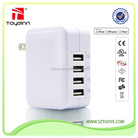 Ac 110v-220v 25w 4 port power adapter multi usb charger for Iphone