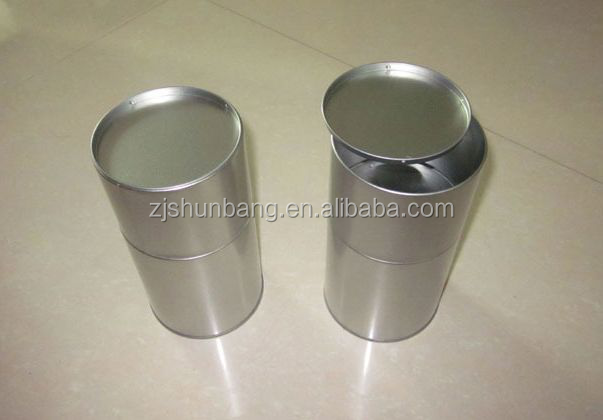 cheap empty tin can for food/ printed biscuit empty tin can for food/ metal pen container