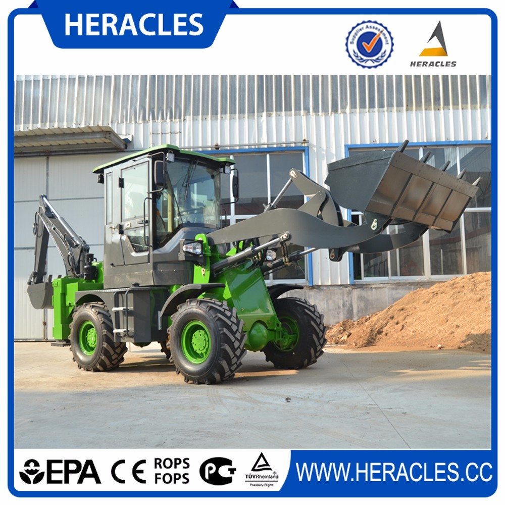 backhoe loader and towable mini backhoe