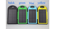 Fast charging handy pocket ultra slim 5000mah waterproof solar power bank charger for sports