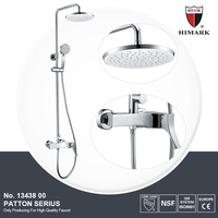 Hotel style single handle bathroom shower set, copper bathroom tap