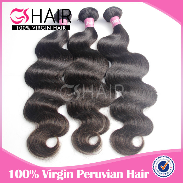 7A unprocessed top grade peruvian bodi hair