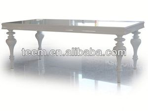 Neo-classical furniture rustic dining table LS-212