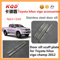 stainless steel auto trim door sill scuff plate hilux vigo door sill protector toyota hilux side step for car accessories toyota