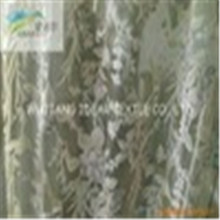 Flocked Polyester Organza Fabric For Decoration Fabric/Wedding Dress