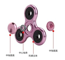 EDC Tri-Spinner Fidget Toys Pattern Hand Spinner Metal Fidget Spinner and ADHD Adults Children Educational Toys