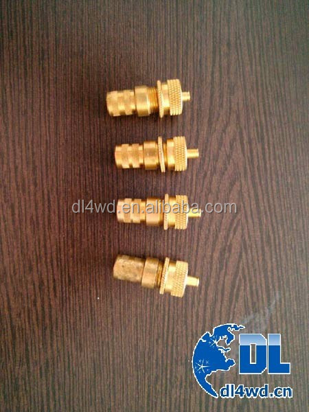 China 4x4 tyre deflators brass tire valve
