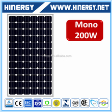 alibaba Russia best selling solar cells 125x125 silicon solar plate 200w tuv solar panel
