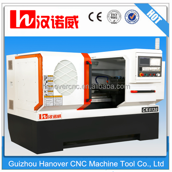 horizontal metal lathe machine CK6136 flat bed design 8'' chuck spindle bore 58mm lathe for sale with best price