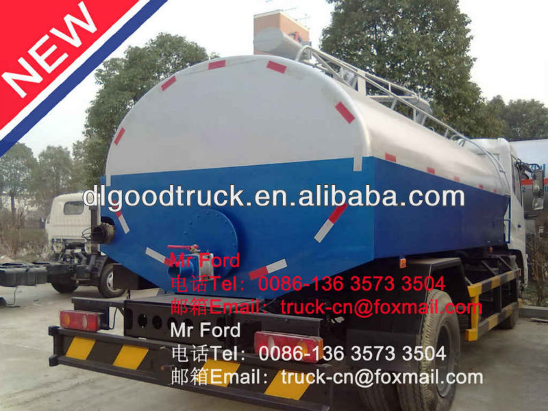 Dongfeng kinrun septic tank trucks vacuum sewage suction truck sewer jetting trucks 0086-13635733504