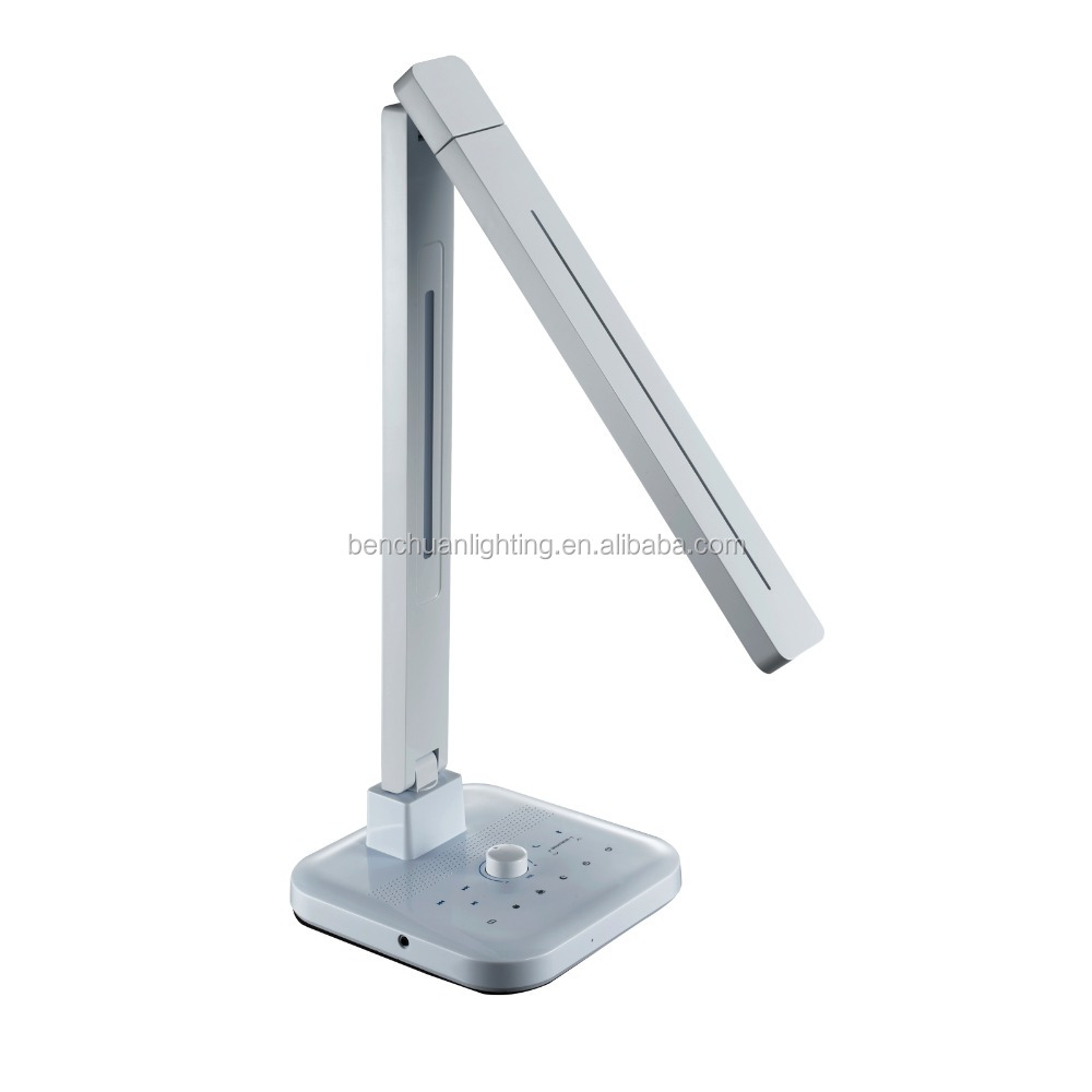 DC12v working led desk light with bluetooth speaker and usb charging