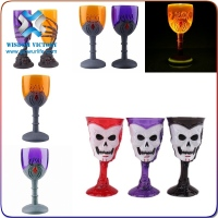 halloween high quality projection led wine cups for disco night, promotion party favor flashing light up glass for KTV & bar