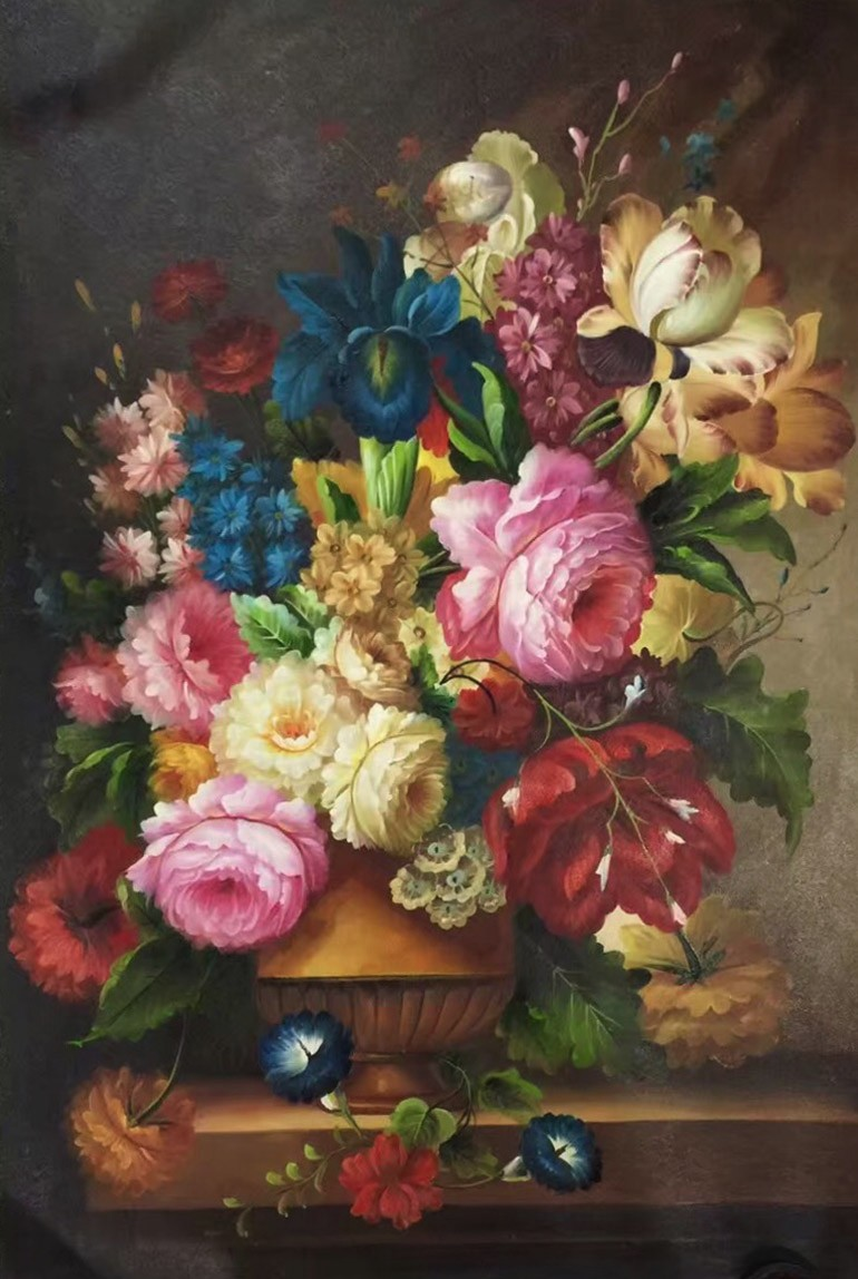 Vintage wall canvas arts oil painting <strong>pictures</strong> of flowers