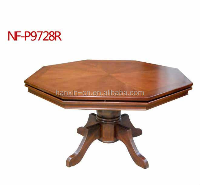 Wholesale 8 seat antique octagon wood poker table