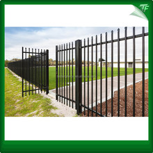 Rail 30*30mm Bamboo fence galvanized pipe PVC powder Garrison fencing steel fencing