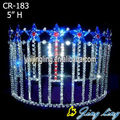 Colored rhinestone star patriotic pageant crown