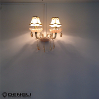 modern crystal chandelier style wall lamps for home hotel corridor villa