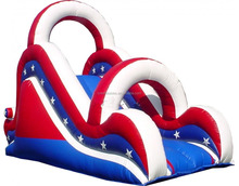 Commercial Blue And Red Inflatable Water Slide, giant adult inflatable slide for sale