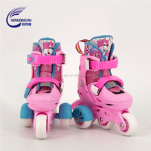 Made in China 2018 fashion button adjust kids skating roller shoes for beginners