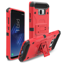Best Price In Stock Shockproof Armor Belt Case With Sliding Sleeve TPU + PC Phone Case for Samsung S8 Plus Tough Phone Cover