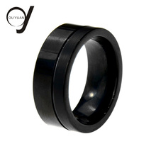 Latest Sample Designs High Polish Men's Tungsten Band Carbide Black Engagement Wedding Ring