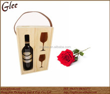 Custom Personalized Wooden Wine Boxes with Cups for decoration