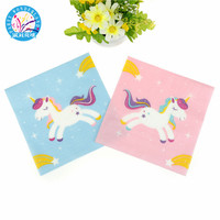20pcs/lot Disposable Unicorn napkins kids birthday party supplies paper napkins baby shower wedding tissue