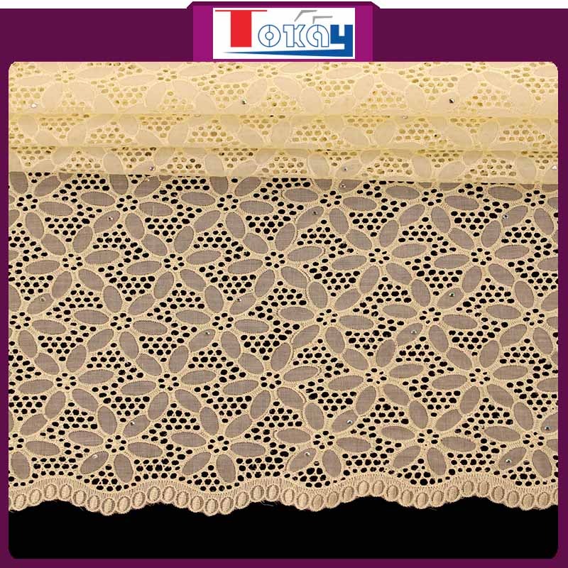 Latest design of super fine swiss lace for wedding fress