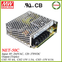 Meanwell NET-50C Triple Output Switching Power Supply 5V 15V -15V
