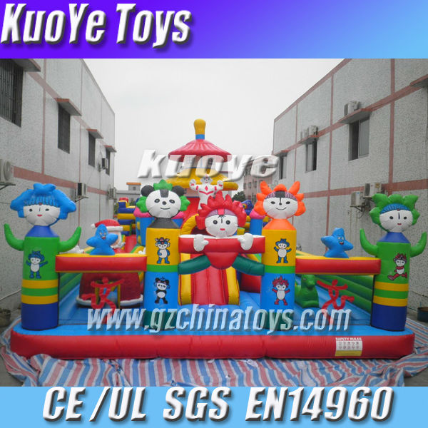 olympic inflatable jump fun city game