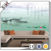 China factory price hot-sale beautiful scenery 3d wallpaper murals