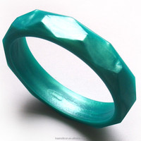 Fasion Food Grade Silicone Faceted Teething Bangle