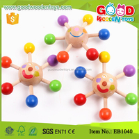 Wholesale Colorful Mini Peg-top Cheap Wooden Toy