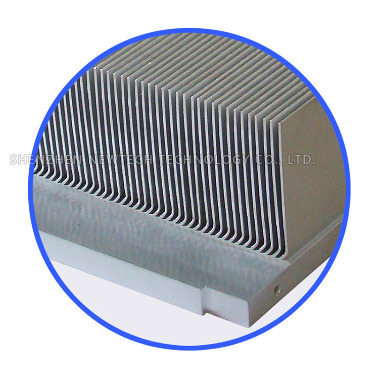 China made OEM skive IGBT/light aluminum large 340mm width heat sink examples