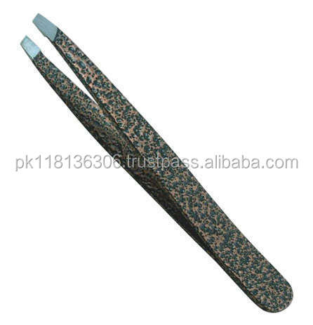 PROFESSIONAL COSMETIC EYEBROW POLISHED SLANTED TWEEZERS
