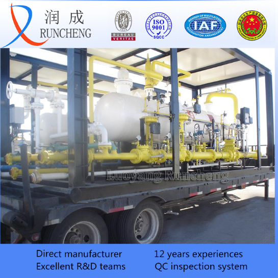 skid mounted well test gas-liquid-sludge separator oil and gas 3 phase separator